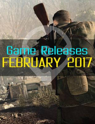 Sorties de jeux de février 2017 – For Honor, Sniper Elite 4, et d'autres !