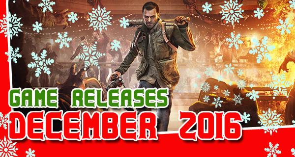 Décembre 2016 sorties jeux vidéos