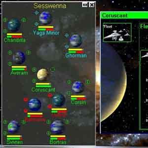 Star Wars Rebellion - Interface de jeu