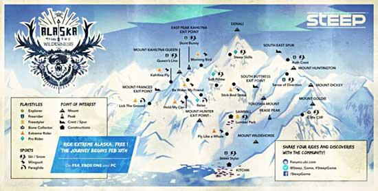 Carte Alaska Steep
