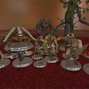 role playing animated figurines