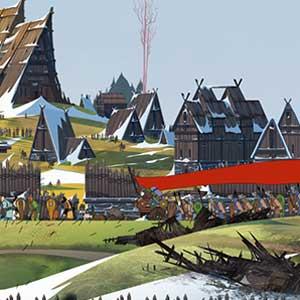 The Banner Saga 2 village de Skogr
