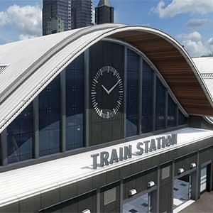 les trains circulent sur les rails