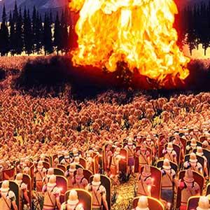 Nuke VS 30,000 Orcs & Romains
