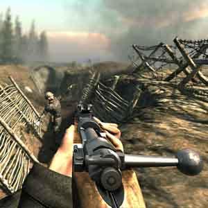 Verdun: tranchée