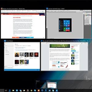 Bureaux virtuels multiples dans Windows 10 Pro