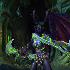 Une femme elfe de la nuit Chasseur de Démon