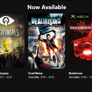XBOX LIVE GOLD Jeux gratuits