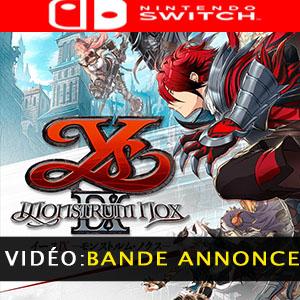 Ys IX Monstrum Nox Nintendo Switch Bande-annonce Vidéo