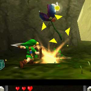 Zelda Ocarina of Time 3D Nintendo 3DS Saut
